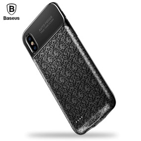 Capa Com Bateria Para Iphone X 10 Baseus Plaid 3500 Original