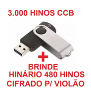 Pendrive C/ 3.000 Hinos Ccb + Hinário Cifrado P/ Violão