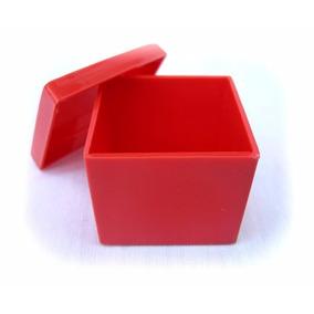 200 Caixinha De Acrílico 4x4x3,3cm Vermelha - Festa Infantil