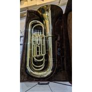 Tuba Weril J980 4/4 Sib 4 Pistos  Dourada Original -raridade