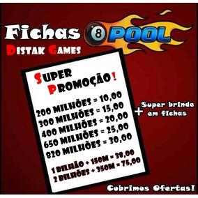Fichas 8 Ball Pool + Super Brinde (cobrimos Ofertas).