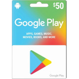 Cartão Gift Card Google Play Store Brasil Crédito R$ 50,00