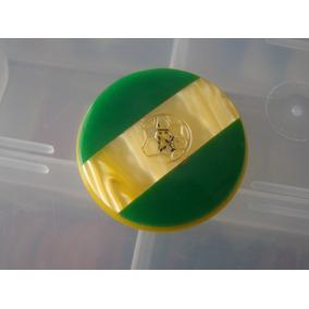 Cod 103 - Botão Bola De Ouro Brasil Bertisa 3,9cm Galalite