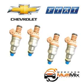 Kit Jogo 4 Bico Injetor Silverado Omega Uno Turbo 0280150975