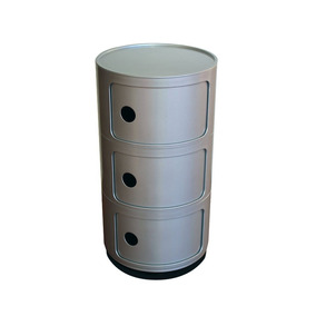 Mueble Organizador Cilindrico De Abs 3 Puertas Prestigio