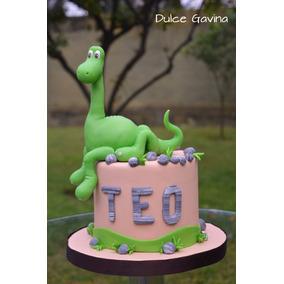 Un Gran Dinosaurio Adorno En Porcelana Fría Para Tortas