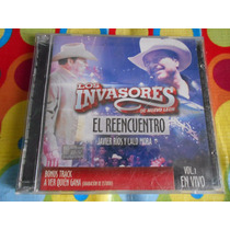 Los Invasores Cd El Reencuentro Cd +dvd En Vivo,lalo Mora .