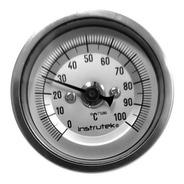 Termómetro Horno 2 Plg 0 A 100°c, Vástago 6 , Rosca 1/4