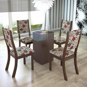 Sala De Jantar 4 Cadeiras Viero Via Choco/passion Hg