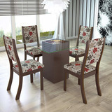 Sala De Jantar 4 Cadeiras Viero V Choco/passion