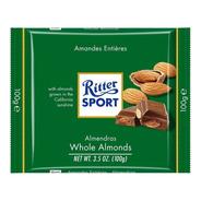 Tableta Chocolate Ritter Almendras Enteras X100g