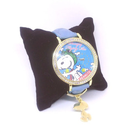 Snoopy Reloj De Pulsera Con Cristales De Peanuts Japón