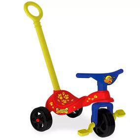 Triciclo Velotrol Com Empurrador Para Bebês Crianças Xalingo