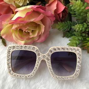 f9a3d184dcb97 Oculos De Sol Com Strass - Óculos De Sol no Mercado Livre Brasil