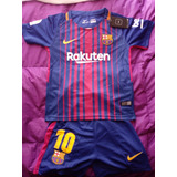 Conjunto Barcelona Para Niños Messi Camiseta + Short Nuevos