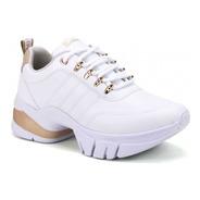 Tênis Feminino Ramarim Dad Chunky Sneaker 2180103 Dourado