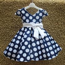 Vestido Infantil Festa Bolinha Dama Baile 8 A 13 Anos Laço