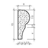 Fôrma Plástico - Moldura 04 - Gesso - Concreto