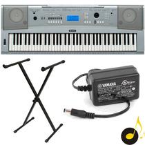 Piano Digital Yamaha Dgx230 + Estante + Fonte Yamaha