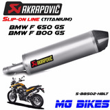 Escape Akrapovic Bmw F 650 700 800 Gs Titanium Solo Mg Bikes