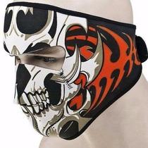 Mascara Para Motociclista Calavera Con Tribales Chooper