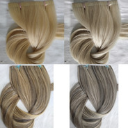 Cabelo Humano Loiro Claro Fita Adesiva 150g 60 Cm Mega Hair
