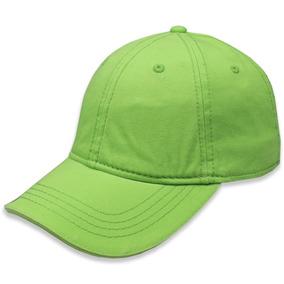 Gorra Sc Copa Baja Algodón P/niño Verde Limon Unitalla