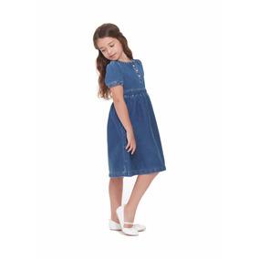 Vestido Innermotion De Mezclilla Para Niñas. Estilo 7115