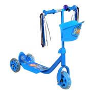 Monopatin Con Flecos Infantil De Metal Azul O Rosa Jem