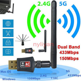 U.s. Stock Wifi Wireless 2.4 / 5ghz Banda Dual Red Antena...