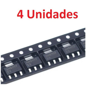 4 Unidades Ams1117 Regulador