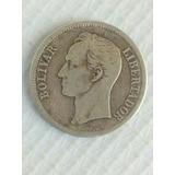 Moneda De Plata 1 Bolivar 1945 Lei 835