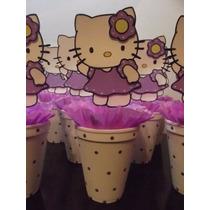 Centros De Mesa Kitty En Goma Eva -min 5 Unidades