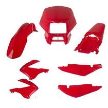 Kit De Carenagem Bros Nxr 125 / 150 Vermelho 2003 / 2008