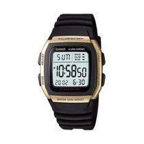 Reloj Casio W-96h Sumergible Pila 10 Años Alarmas Dorado