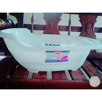 Bañera Para Bebes Con Desagüe En Rosado