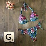 Ganga: Hermosos Vestidos De Baño Bikini De Moda Animal Print