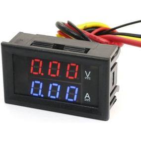 Voltímetro Amperímetro Digital 10a Som Bateria Energia Solar