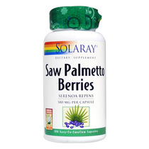 Saw Palmetto Solaray, 580mg Concentrado,prostata