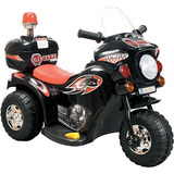 Mini Moto Triciclo Elétrico Infantil 6v Barzi Preto