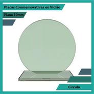 Placa De Vidrio Referencia Circulo Pulido Plano 10mm
