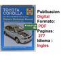 Libro De Servicio Taller Haynes Toyota Corolla 98 Al 00