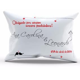 Kit 100 Almofadas Personalizadas Lembrança Casamento 15x20cm
