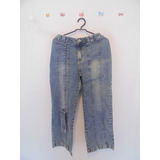 Calca Feminina Jeans Recortes Capri Cód. 457