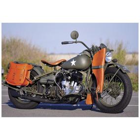 Quadro Decoração Carros Antigos Motos Clássicos 44x30 Cm