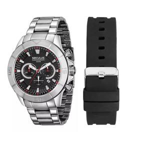 Relógio Seculus Masculino Troca Pulseira 28917g0skna1