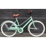 Bicicleta De Mujer Vintage Retro R26 Color Pastel Bores Bike