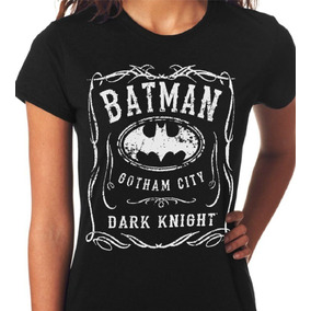 Camiseta Paródia Jack Daniels Batman Dark Knight Baby Look