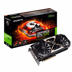 Placa Video Gigabyte Xtreme Gaming Gtx 1070 8gb Ddr5 Geforce