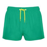 Traje De Baño Corto Verde Liso Crouch